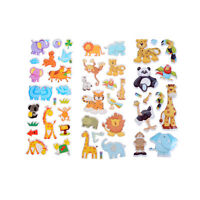 Kids Toys Cartoon Cute Animals Zoo 3D Stickers Children Girls Boys PVC Stickers
