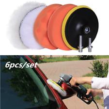 "6Pcs 4""sponge Polishing waxing Buffing Pads Kit Compound-Auto Car Drill Adapter"