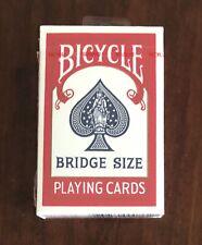 Bicycle 86 Bridge Size Playing Cards Sealed Red Deck Air Cushion Finish NIB