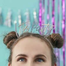 Iridescent Lets Party Head Bands - Good Vibes