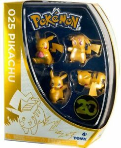 Pokemon 20th Anniversary Pikachu Exclusive Mini Figure 4-Pack [Version 1]