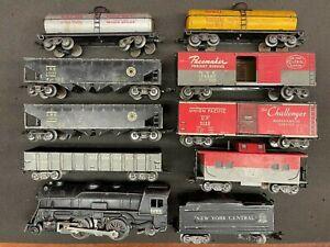 Marx Tin Postwar O - NYC #999 Steam w/ 7 cars + Caboose: Shell, B&O, Lehigh, UP