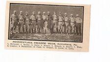 Gettysburg Pennsylvania College University 1909 Baseball Team Picture