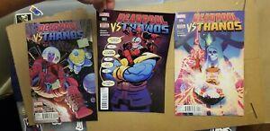 Deadpool vs Thanos 2-4 comic books Marvel