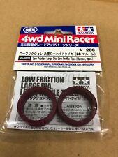 Tamiya 95389 1/32 Mini 4WD Low Friction Lg Dia LP Tire - Maroon / 2pcs