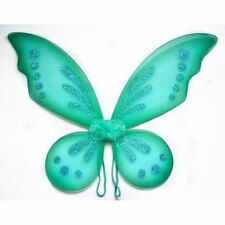 Teal Adult Tinkerbell Pixie Butterfly Fairy Wings Dress Up Girls Costume