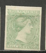 7655F -RARO SELLO PRUEBA PUNZON AÑO 1898 REGENCIA MARIA CRISTINA ORIGINAL,PROOF