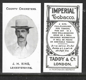 NOSTALGIA REPRINT TADDY & CO J.H.KING LEICESTERSHIRE COUNTY CRICKETERS