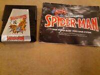 SPIDERMAN by PARKER BROTHERS for ATARI 2600 ▪︎ CARTRIDGE AND MANUAL ▪︎
