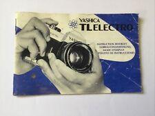 Genuine Yashica TL Electro Instruction manual forYashica 35mm SLR camera