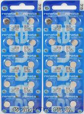 20 pcs 315 Swiss Renata Watch Batteries SR716SW SR716  0% MERCURY