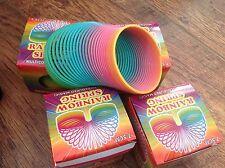 10 Molle Slinky Giocattolo Arcobaleno Festa Di Compleanno Borsa Divertente Stress Sollievo Autismo ADHD