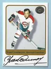 YVAN COURNOYER 2001 FLEER GREATS OF THE GAME SIGNATURE AUTOGRAPH AUTO
