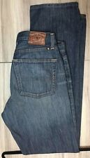 LUCKY BRAND MEN'S 221 DARK WASH STRAIGHT JEANS LOW RISE FIT SIZE   36W  X 34 L