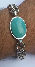 SALMAN KHAN Prem Ratan Dhan Payo Stunning Steel Curb Chain Turquoise Bracelet S4