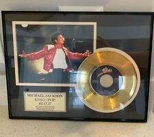 "Michael Jackson King of Pop ""Beat It"" 24K gold plated record - framed"