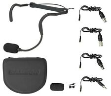 Samson QEX Fitness Headset Headworn Microphone Mic+4 Adapters Case