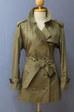 Womens BURBERRY SHORT Trench Coat Mac Green UK 14/16, USA 12/14 BEAUTIFUL
