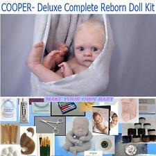 DELUXE Complete Reborn STARTER REBORN KIT,  DVD, Mohair, Body, Paints, Cooper