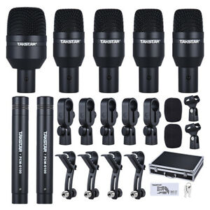Professional Takstar DMS-D7 Drum Set Kit 7 Microphones Drum Microphone Kits X7V1