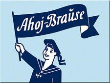 Ahoj Brause Logo Magnet  6x8 cm 14241 Kühlschrankmagnet Schild Sign