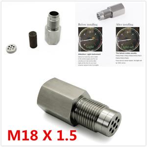 1Pcs 180° M18X1.5mm Car Metal O2 Oxygen Sensor Spacer Adapter Bung CEL Converter