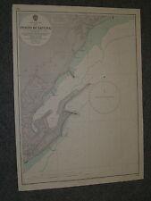 Vintage Admiralty Chart 1433 ITALY - PORTO DI SAVONA 1965 edn
