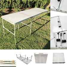 Aluminum 6Ftx2Ft Tri-Folding Table Outdoor Picnic Camping Dining Party Tables