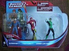 "DC Comics Justice League Superman Flash Green Lantern 3.75"" Figurines Monogram"