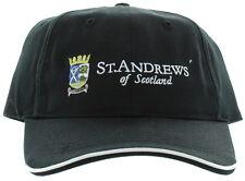 St. Andrews of Scotland Adjustable Buckle Back Hat Embroidered Golf Cap - Black
