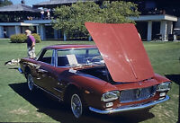 Vintage Photo Slide 1988 Classic Car Red Cherry Hood Popped Show