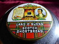 Vintage LAND O'BURNS SCOTCH SHORTBREAD BISCUIT TIN Gilchrist Food Advertising