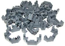 LEGO LOT OF 28 DARK BLUISH GREY CASTLE TURRET TOP 4 x 8 x 2 1/3 PIECES