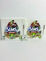 The Sims 3: Pets (Nintendo 3DS, 2011) - CIB / Complete In Box with Manual Tested