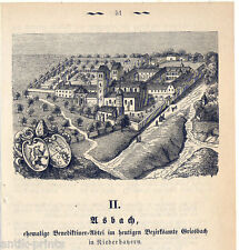 Asbach bei Rotthalmünster - Holzstich um 1875