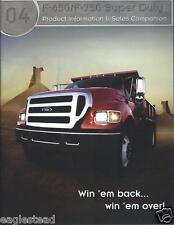 Truck Brochure - Ford - F-650 F-750 Super Duty Vs GM International 2004 (T1321)