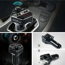 Car SUV MP3 Music Player Wireless Bluetooth FM Transmitter Radio With 2 USB Port