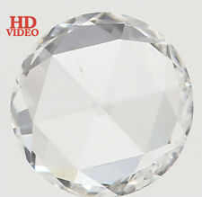 Natural Loose Diamonds Round Rose Cut H Color VVS2 Clarity 5.30 MM 0.37 Ct L3605