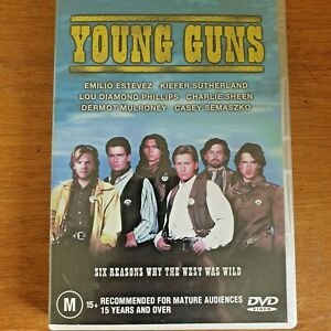 Young Guns DVD Kiefer Sutherland Western Action R4 - FREE POST~
