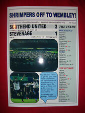 Southend United 3 Stevenage 1 - Southend at Wembley - 2015 - souvenir print
