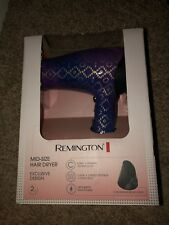 Pink Remington Mid-Size Hair Dryer with 3 Heat + 2 Speed Settings and Cool Shot