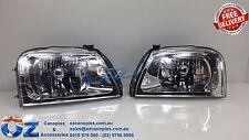 MITSUBISHI MK GLS TRITON Head lights Headlamps NEW PAIR left & right 2001 -2006