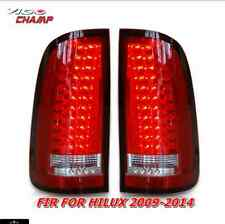TOYOTA HILUX VIGO CHAMP 2004-2013 PAIR LED REAR TAIL LIGHT LEED VLAND RED