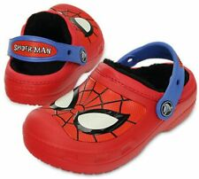 Crocs Kids' Spiderman Red Fuzzy  Lined Clog Little Boys Size 6/7