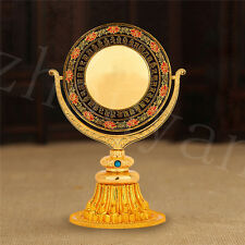 BLESSED 15CM GOLD HOLY CUNDI MIRROR REBOUNCE EVILS! TIBETAN FENG SHUI BALANCER -