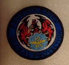 U.S.A.F FLIGHT SUIT PATCH,PHOENIX RAVEN,GLOBAL PROTECTION.SECURITY FORCES,w/hpt