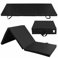 Sunny Health Fitness NO048 Tri-Folding Gymnastics Mat - Black