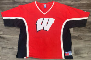 Vintage Wisconsin Badgers NCAA OFFICIAL Shooting Shirt MENS Sz XXL Champion Rare