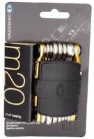 Crank Brothers M20 20 Function Bicycle Mini Tool Gold w/ Tire Plugs