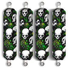 Green Skull Shock Covers Polaris Youth Ranger RZR 170 Side by Side (Set 4) New